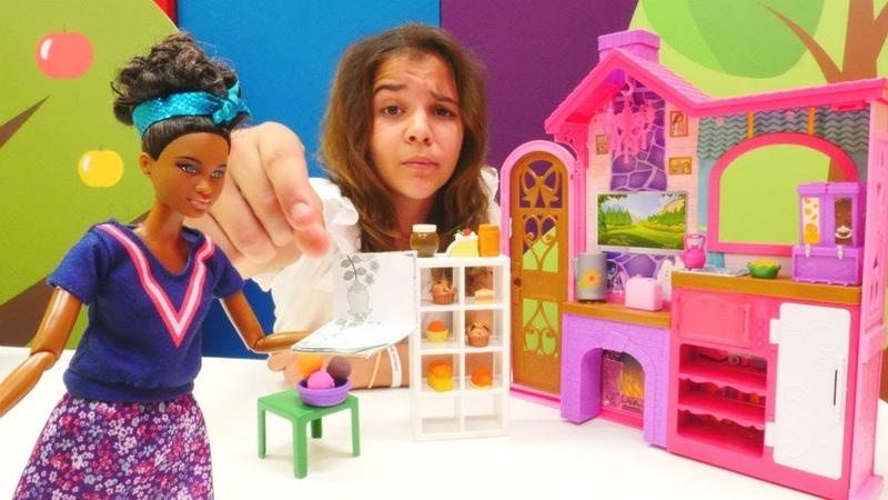 Barbie pastane açıyor! Müfettiş Sema. Kız oyunu