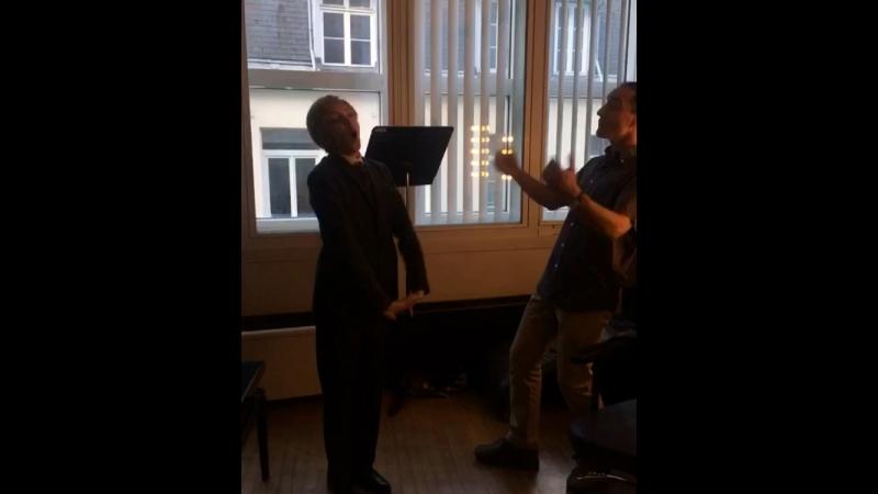 With Damian Iorio. Opera «Boris Godounov».