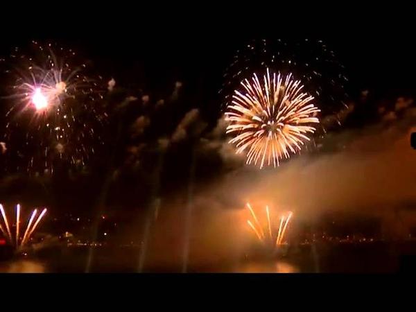 29 Ekim Cumhuriyet Bayramı 90. Yılı Kutlamaları   İstanbul Boğazı Havai Fişek Gösterisi