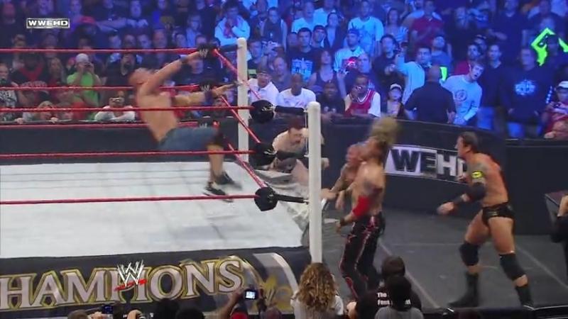 |WM| Сина против Шеймуса против Эджа против Джерико против Барретта против Ортона - Ночь чемпионов 2010