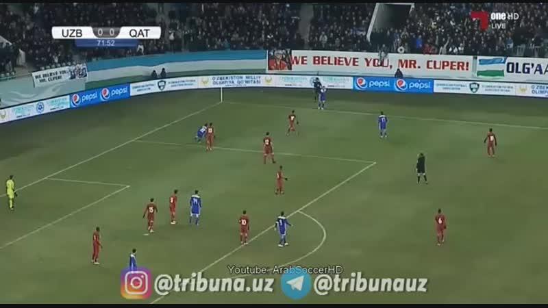 ⚽️ Ўзбекистон - Қатар 2:0 📹 Барча голлар