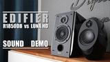 Edifier R1850DB vs Edifier E25HD Luna Eclipse HD Sound Demo w Bass Test