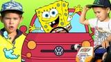 SpongeBob SquarePants stolen car. Ride on power wheels. #ErikShow
