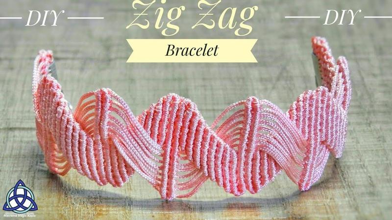 DIY Zig Zag Macrame Bracelet - ZIG ZAG Bracelet Pattern
