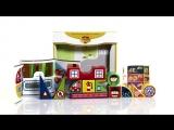 Magneticus BLO-003-05 - Пластиковые кубики Пожарная часть. Plastic cubes Firehouse