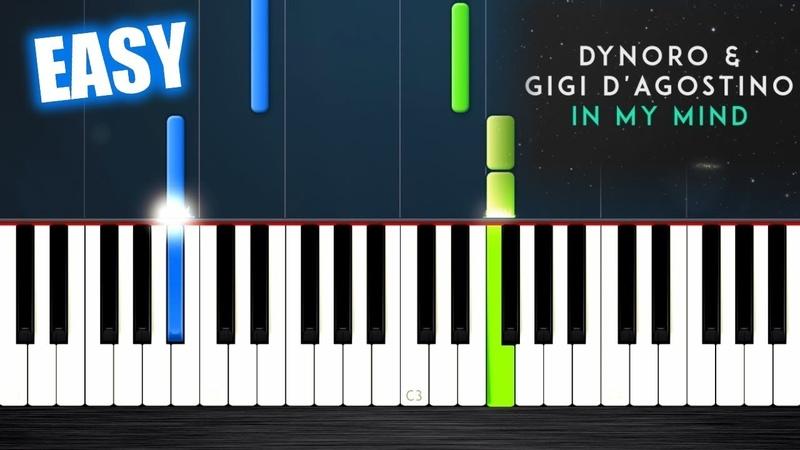 Dynoro, Gigi D'Agostino - In My Mind - EASY Piano Tutorial by PlutaX