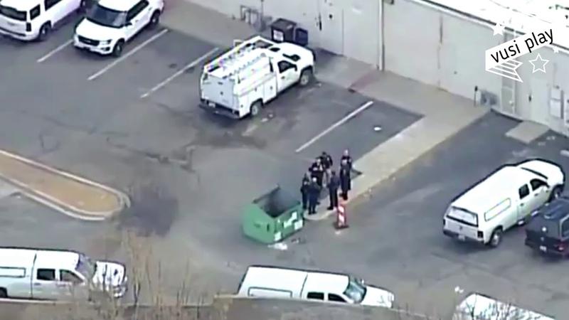 Видео с места взрыва у торгового центра на юго-западе США- город Альбукерке