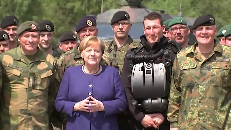 20 05 2019 Statement Angela Merkel VJTF 2019 Bundeswehr NATO Ukraine