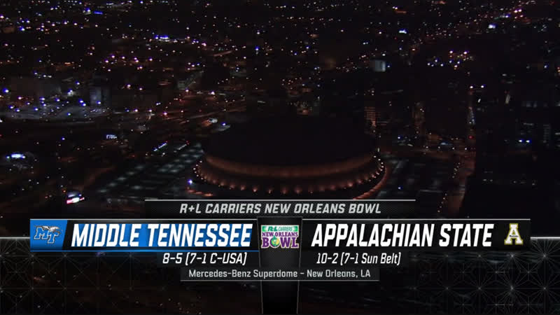 NCAAF 2018 / New Orleans Bowl / Middle Tennessee Blue Raiders - Appalachian State Mountaineers / 1H / EN