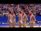 Сборная России -- 5 обручей (многоборье) // Чемпионат Мира 2018, София