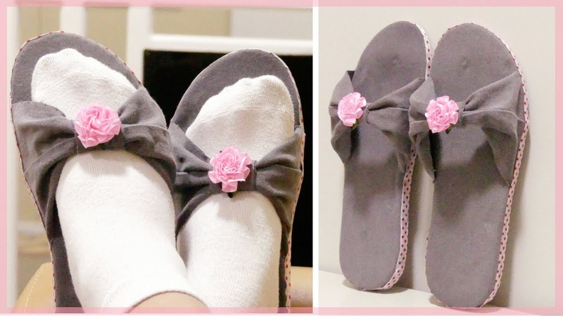 DIY SLIPPERS: How to Make Home Slippers Using Old Jeans and Damaged Flip Flops (Easy No Sew)