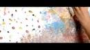 Уроки живописи маслом видео cоздаем необычный фон с помощью масляных красок на холсте.