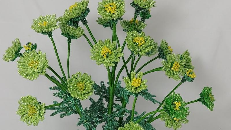 мастер класс хризантемы зеленые