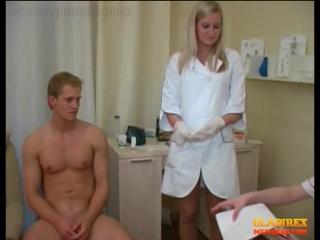 Медицинский осмотр парней со сдачей спермы #3 (cfnm, handjob, cumshot, russian, сборник) ‒ crazyfemalydoctors