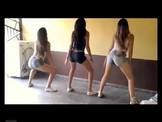 Школьницы малолетки 9 класс танцуют тверк крутят попой в коротких шортах