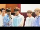 Look at Daniel and Jihoons face after Jaehwan hugged himself HAHAHA IM LAUGHING SO HARD