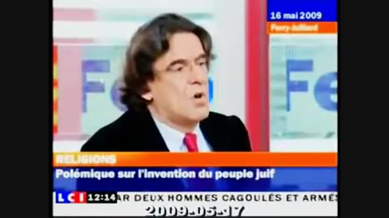 Luc Ferry Shlomo Sand Le Sionisme Khazars et l'invention du peuple juif
