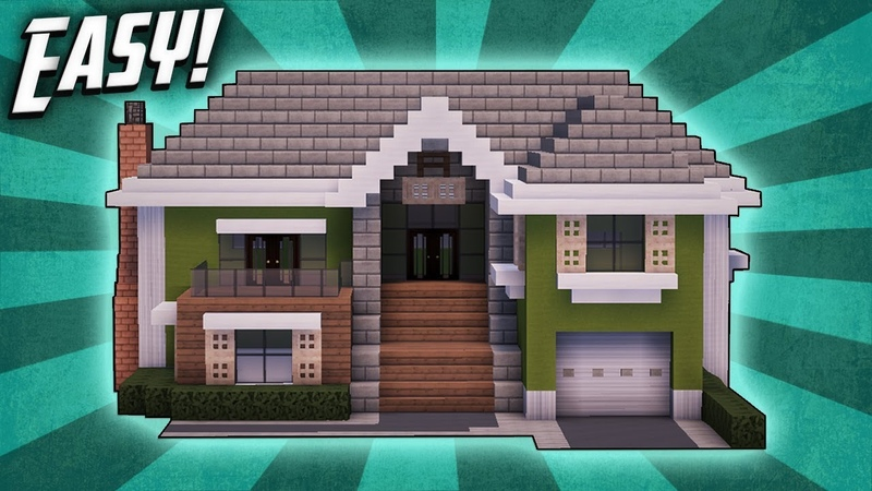 Minecraft How To Build A Large Suburban House Tutorial (5)