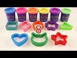 Учим цифры и цвета c Play Doh. Пластилин Плей до для детей.