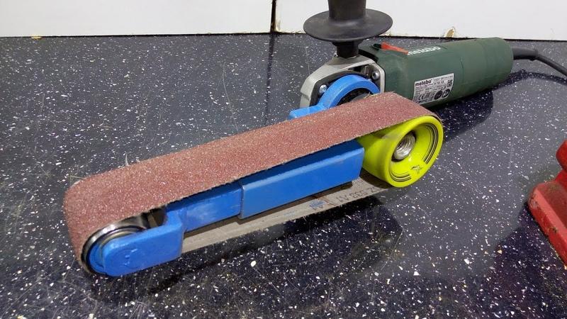 Mini Belt Sander Angle Grinder Attachment Mini szlifierka taśmowa z kątówki