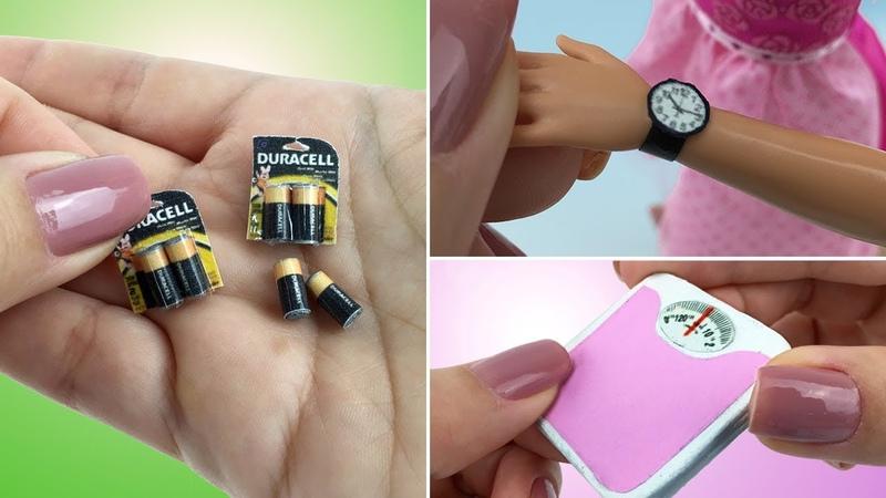 3 COISAS INCRÍVEIS para Barbie e outras Bonecas - Pilhas, Relógio de Pulso e Balança