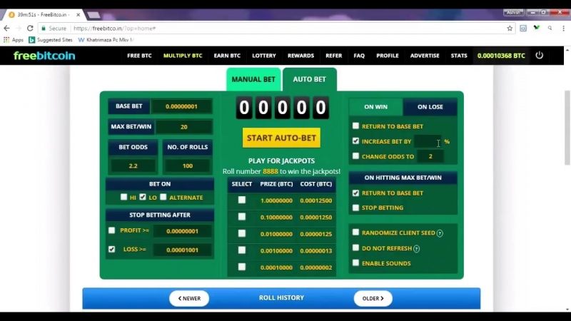 Win 235000 satoshi within 10 minute with Freebitco.in ¦