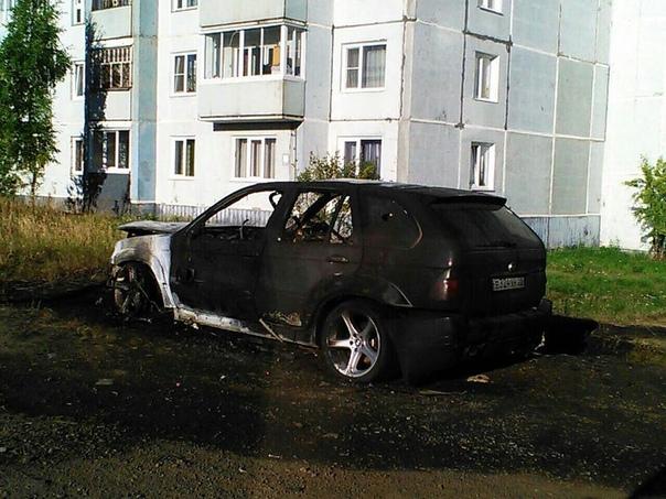Возгорание автомобиля 13 августа