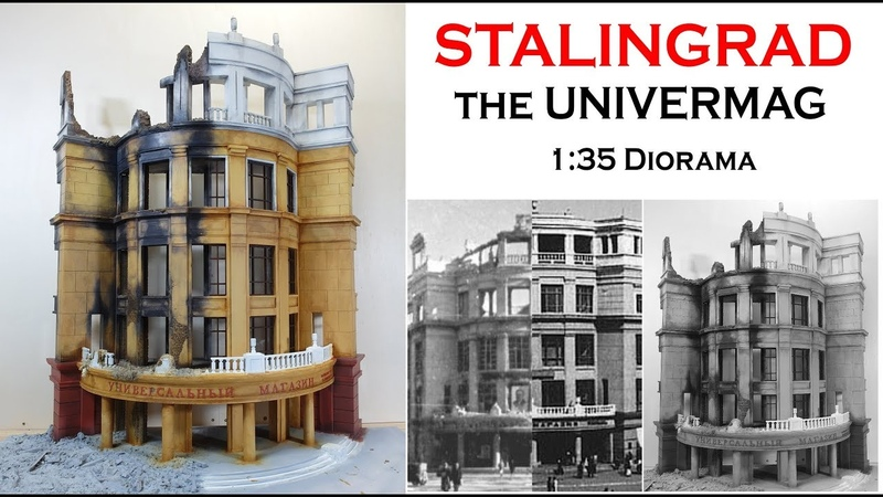 Bemalung von Stalingrad Univermag 1/35 WW2 Diorama (English subtitle)