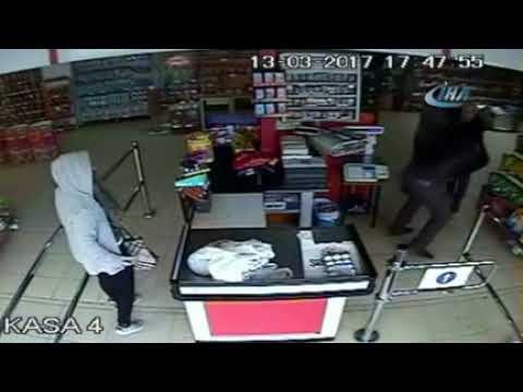 Markette bıçaklı kavga güvenlik kamerasında » Kayseri Olay Gazetesi