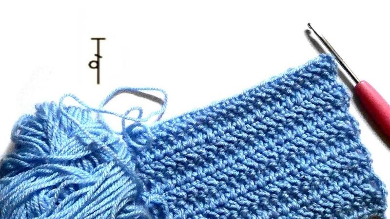 «Ёлочные» столбики - Herringbone Double Crochet (HBdc)