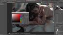 Photoshop painting process - Lion