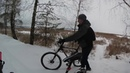 На велосипеде по водохранилищу Солигорск 12 01 2019