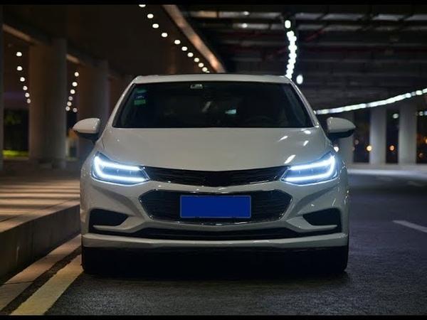 Передние фары Шевроле Круз 2017-2019 V22 type