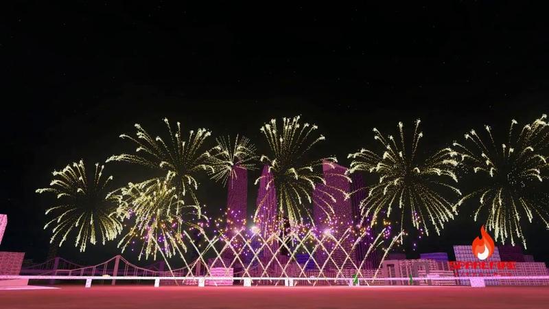 New York City, USA New Year's Eve 2019 Fireworks Display | FWsim