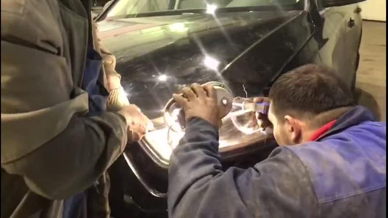 Ремонт капота Audi A4. Часть 1