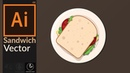Designing a Sandwich Doodle | Art in adobe illustrator CC