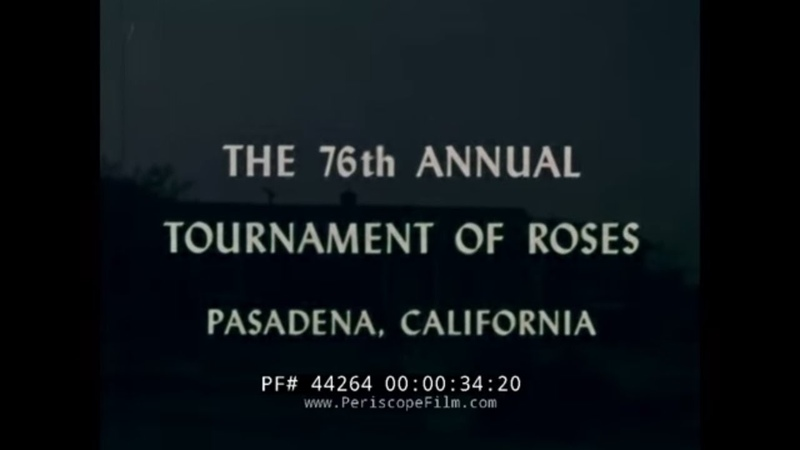 76th ANNUAL TOURNAMENT OF ROSES PARADE 1965 HEADLINES IN FLOWERS PASADENA CALIFORNIA 44264