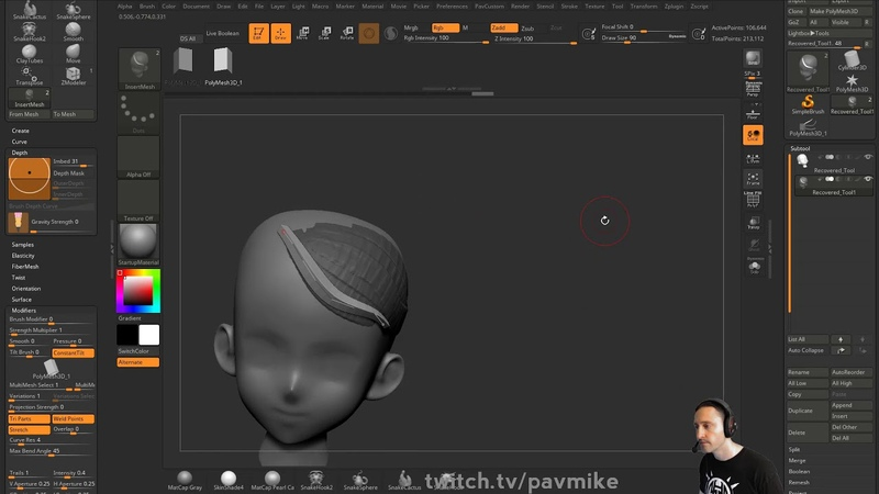 090 ZBrush Imposter Hair Card Creation Techniques