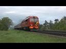 Тепловоз ТЭП70БС-002 близ о.п. Кутишкяй / TEP70BS-002 near Kutiškiai stop