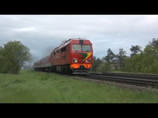 Тепловоз ТЭП70БС 002 близ о п Кутишкяй TEP70BS 002 near Kutiškiai stop