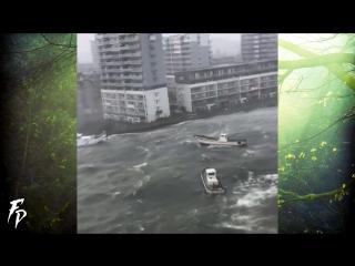 Scary typhoon JEBI in Japan (Sept 4, 2018)
