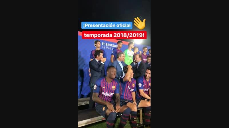 InstaStory «Барселоны Б»: «Официальная презентация сезона 2018/19».