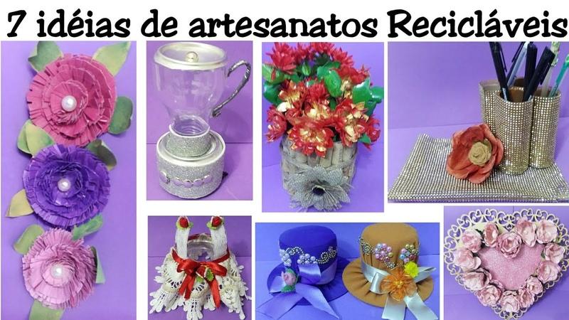 7 idéias de artesanatos Recicláveis