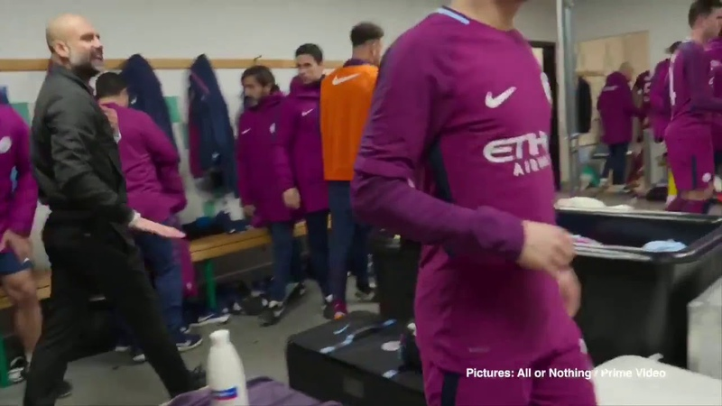 "Pep Guardiola ""Sit Down, Nobody Talk!"" (Angry in Dressing Room)"