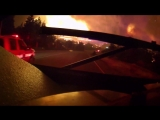 Fire tornado aerial footage from Carr Fire in Northern California