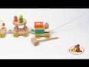 Деревянная игрушка паровозик Чух-чух №2, МДИ Д420