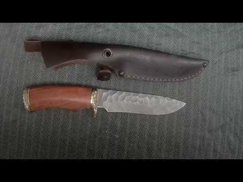 Нож Соболь (дамасская сталь, долы) в3 www.korenok.ru
