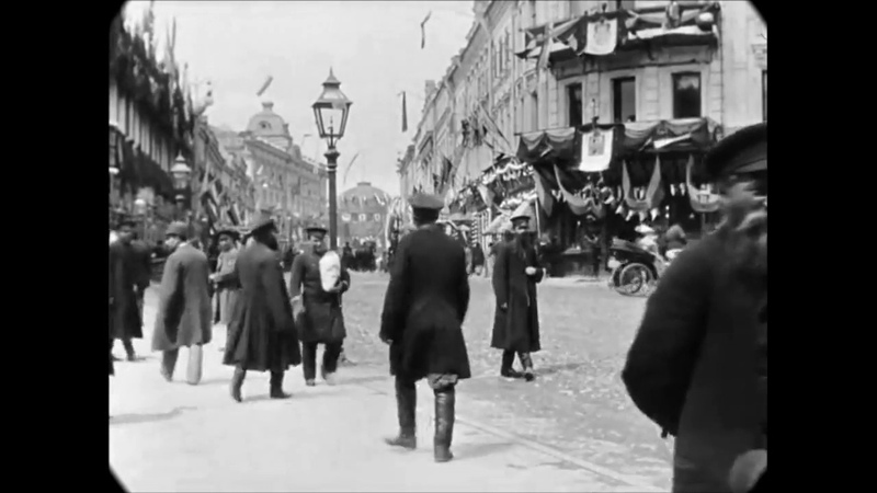May 1896 - Tverskaya Street in Moscow, Russia (speed corrected w added sound)