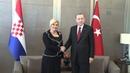 Turkish President Erdogan   Croatian President Kitarovic