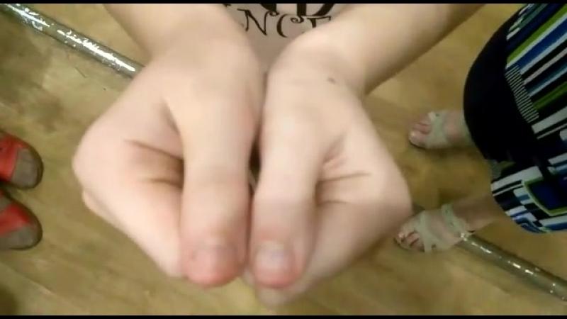Пальцы растут. Обучение, как выравнивать руки и ноги.